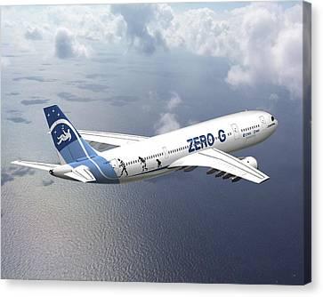 Zero-g Airbus Aircraft, Artwork Canvas Print by David Ducros