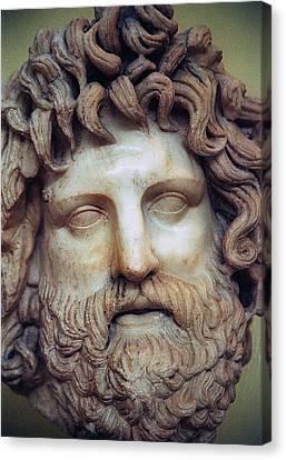 Zeus Head Canvas Print by Andonis Katanos