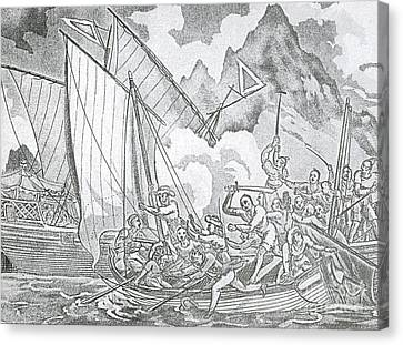 Zheng Yis Pirates Capture John Turner Canvas Print by Photo Researchers