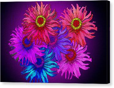 Zinnia Surprise Canvas Print by Larry Bishop