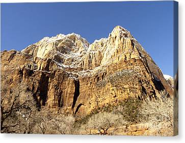 Canvas Print featuring the photograph Zion Cliffs by Bob and Nancy Kendrick