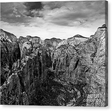 Zion National Park - View From Angels Landing Canvas Print by Larry Carr