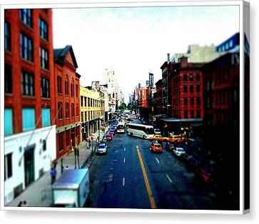 Zip New York Canvas Print by Lynn Wohlers