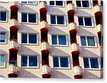 Canvas Print featuring the photograph Zodiac Apartments by Justin Albrecht