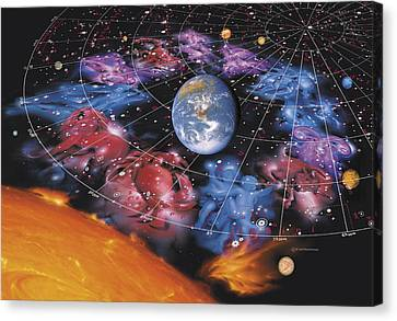 Zodiac Signs Canvas Print by Detlev Van Ravenswaay
