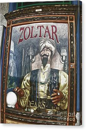 Zoltar The Fortune Teller Canvas Print by Gregory Dyer