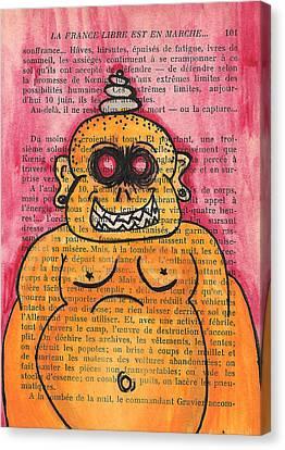 Buddha Sketch Canvas Print - Zombie Buddha by Jera Sky