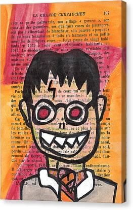 Zombie Harry Potter Canvas Print by Jera Sky