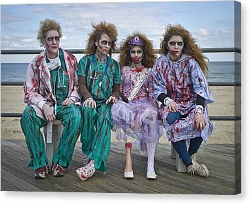 Zombie Medical Family Canvas Print by Andrew Kazmierski