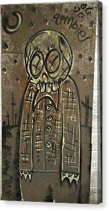 Zombie Metal Canvas Print by Travis Burns