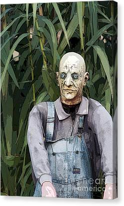 George Romero Canvas Print - Zombies In The Corn by Christopher Purcell
