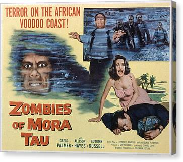 Zombies Of Mora-tau, Autumn Russell Canvas Print by Everett