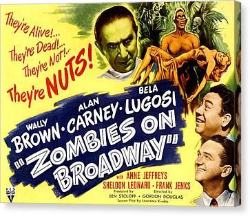 Zombies On Broadway, Bela Lugosi, Wally Canvas Print by Everett