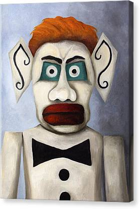 Zozobra Of Santa Fe Canvas Print by Leah Saulnier The Painting Maniac