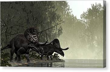 Zuniceratops Canvas Print by Walter Colvin