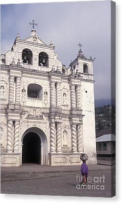 Canvas Print featuring the photograph Zunil Church Guatemala by John  Mitchell