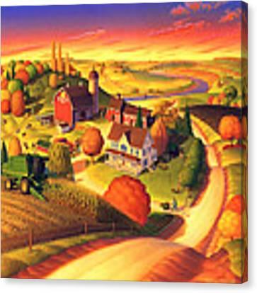 Fall On The Farm  Canvas Print