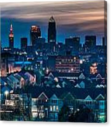 Good Night Cleveland Canvas Print by At Lands End Photography