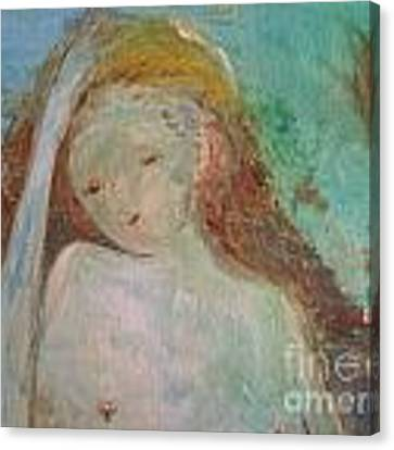 Woman Of Sorrows Canvas Print by Laurie Lundquist