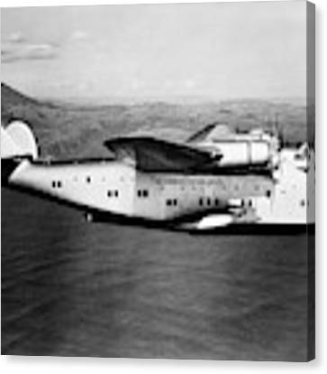 1930s 1940s Pan American Clipper Flying Canvas Print by Vintage Images
