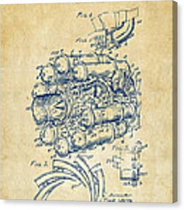 1946 Jet Aircraft Propulsion Patent Artwork - Vintage Canvas Print
