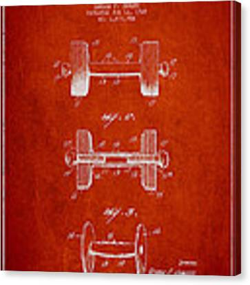 Dumbbell Patent Drawing From 1927 Canvas Print by Aged Pixel