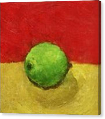 Lime With Red And Gold Canvas Print