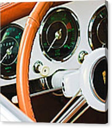 Porsche Steering Wheel Emblem Canvas Print by Jill Reger