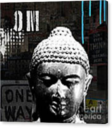 Urban Buddha  Canvas Print