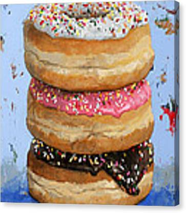 3 Donuts #2 Canvas Print by David Palmer