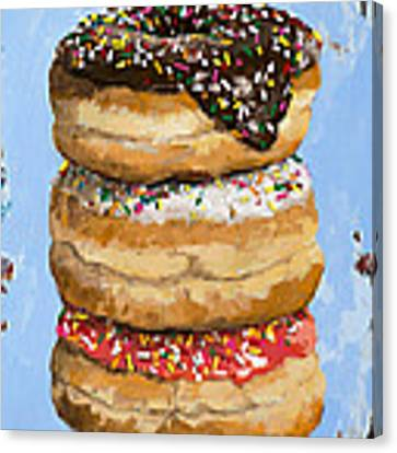 3 Donuts Canvas Print by David Palmer