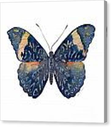 89 Red Cracker Butterfly Canvas Print