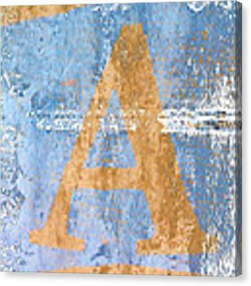 A In Blue Canvas Print by Carol Leigh