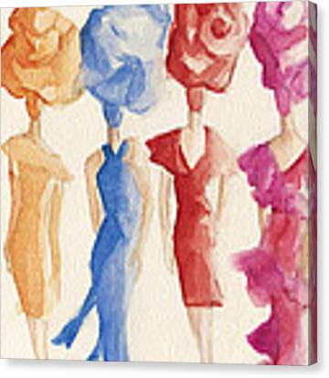 Alexis Mabille Couture - Fashion Illustration Art Print Canvas Print by Beverly Brown
