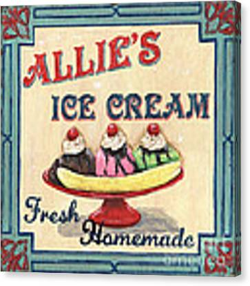 Allie's Ice Cream Canvas Print