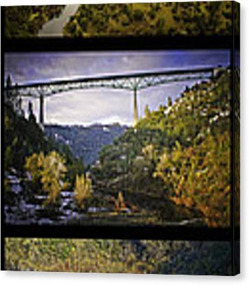 American River Triptych Canvas Print by Sherri Meyer