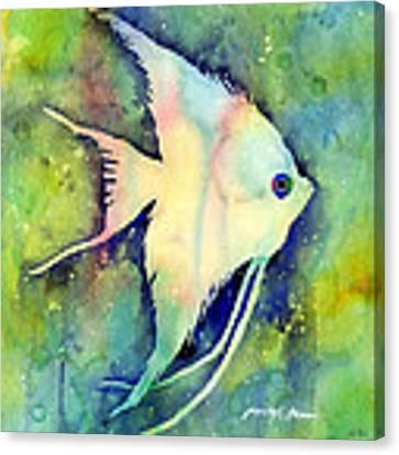 Angelfish I Canvas Print by Hailey E Herrera