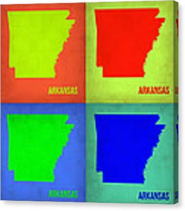 Arkansas Pop Art Map 1 Canvas Print