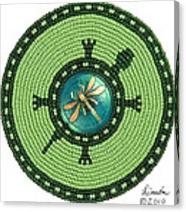 Ashlee's Dragonfly Turtle Canvas Print by Douglas K Limon