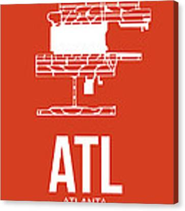 Atl Atlanta Airport Poster 3 Canvas Print
