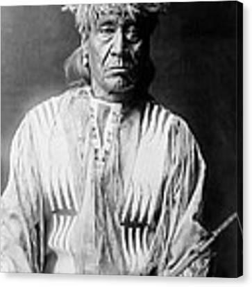 Atsina Indian Man Circa 1908 Canvas Print by Aged Pixel