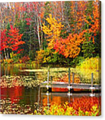 Autumn In Vt Canvas Print by Meghan OHare