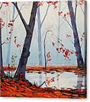 Autumn River Painting Canvas Print by Graham Gercken
