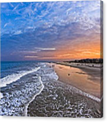 Beautiful Sunset Over Tybee Island Canvas Print by Mark E Tisdale