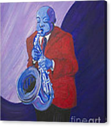 Blue Note Canvas Print by Dwayne Glapion