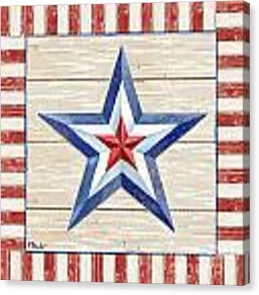 Bordered Patriotic Barn Star IIi Canvas Print