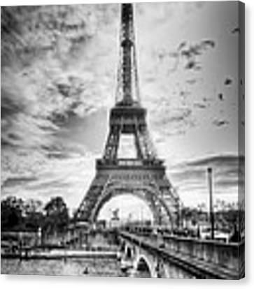 Bridge To The Eiffel Tower Canvas Print by John Wadleigh