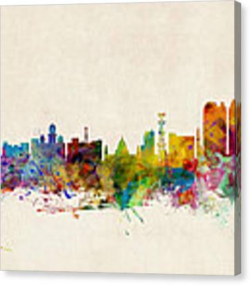 Calcutta India Skyline Canvas Print by Michael Tompsett