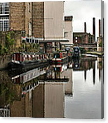 Canal And Chimneys Canvas Print by Jeremy Hayden