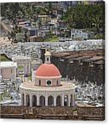 Cemetery In Old San Juan Puerto Rico Canvas Print by Bryan Mullennix